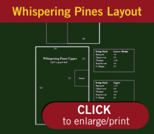 Whispering Pines Conference Layout